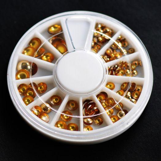 Карусель клепки металл золото круг