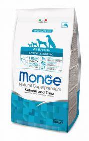 Monge Dog Speciality Hypoallergenic корм для собак гипоаллергенный лосось с тунцом 2,5 кг