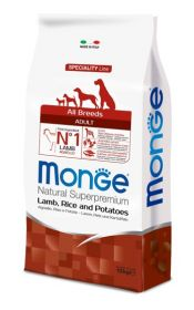 Monge Dog Speciality корм для собак всех пород ягненок с рисом и картофелем 12 кг