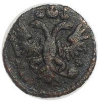 Полушка 1731 года. Перечекан с крестовой копейки Петра 1 # 1