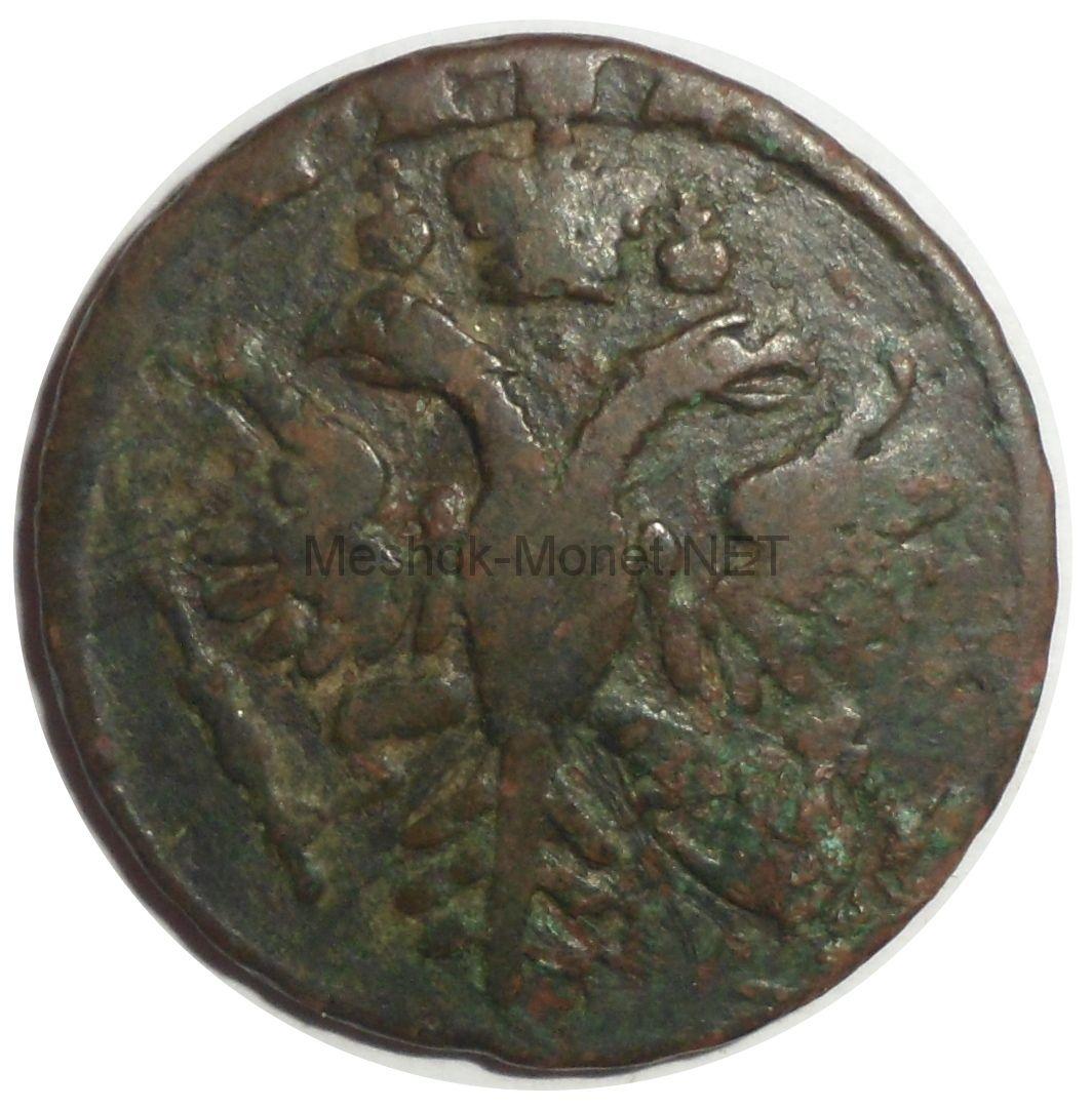 Денга 1731 года. Перечекан с копейки Петра. # 1