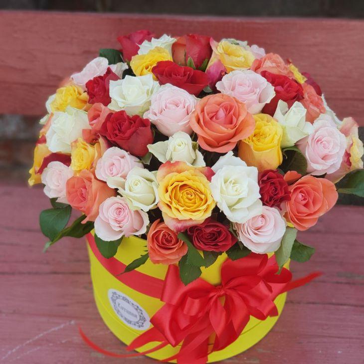 51 роза в коробочке по Акции