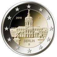Германия 2 евро 2018 Берлин UNC