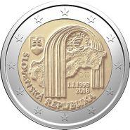 Словакия 2 евро 2018 25 лет Словацкой Республики UNC