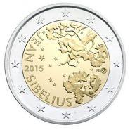 Финляндия 2 евро 2015 Ян Сибелиус UNC