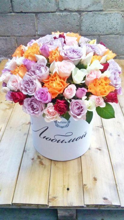 101 роза в коробочке по Акции