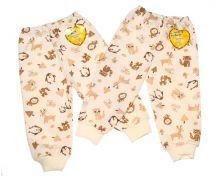 """Штаны для новорожденных с обычной резинкой A-ST910-ITn (футер с начесом) """"Мамин Малыш"""" код 01635"""