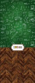 "Фон ""Schoolgreen"" 3x1,5 (3,5x1,5 м)"