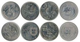Золотой век Португальских Открытий набор из 4 монет 100 эскудо 1987