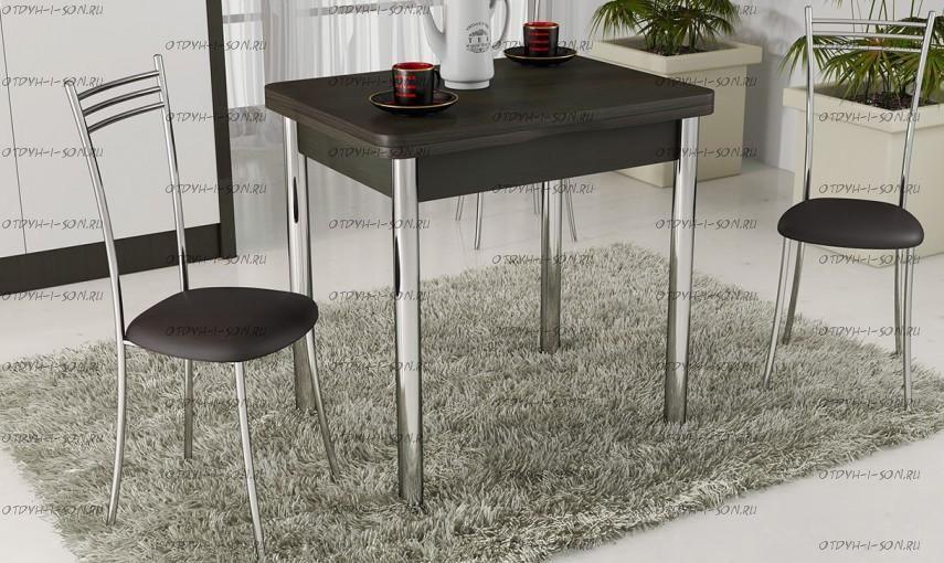 Обеденная группа: стол Лион + стулья Хлоя коричневые