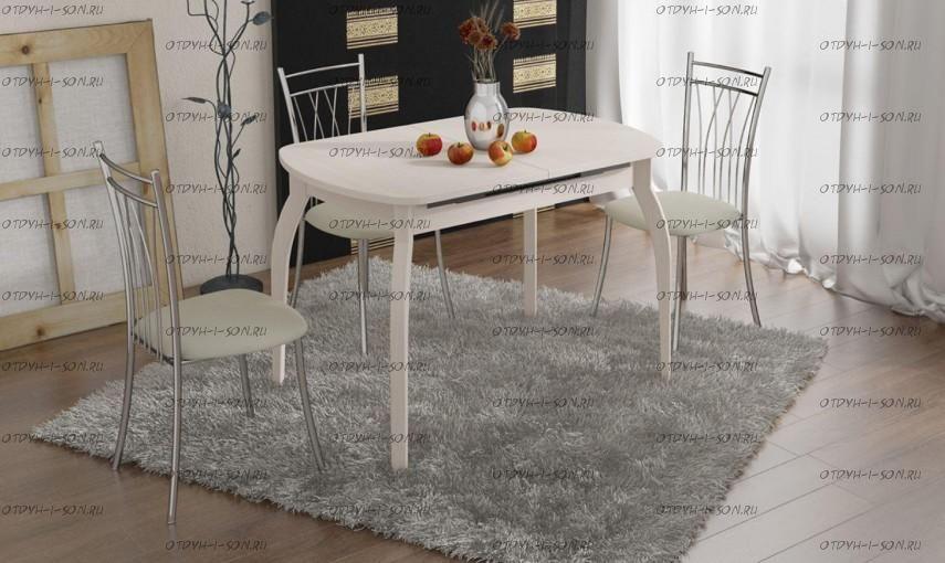 Обеденная группа: стол Милан СМ-203.21.15 + стулья Премьер беж