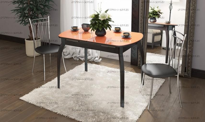 Обеденная группа: стол Милан СМ-203.22.15 + стулья Премьер коричневые