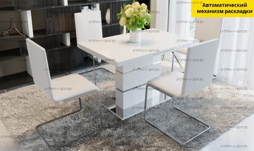 Обеденная группа: стол Амстердам + стулья Марсель