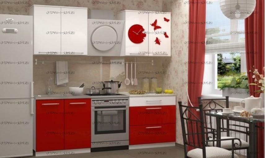 Кухня Техно, часы, 1600