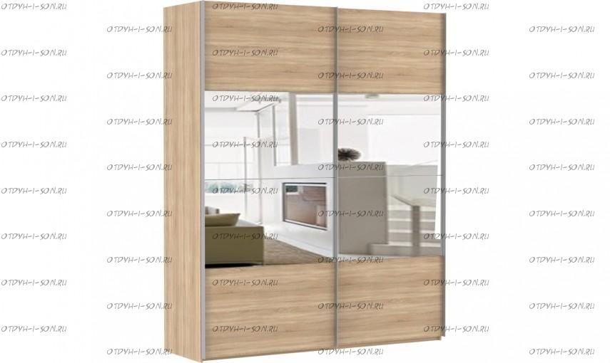 Шкаф-купе Эста, 2 двери, 4 зеркала