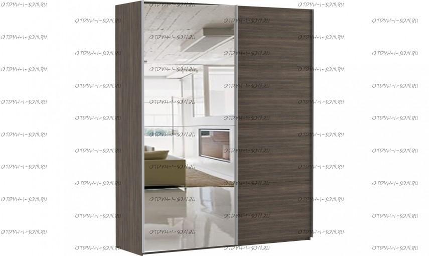 Шкаф-купе Эста, 2 двери, 4 зеркала, венге