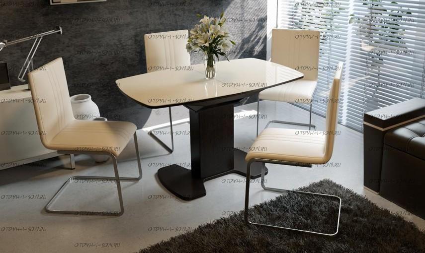 Обеденная группа: стол Портофино СМ(ТД)-105.01.11(1) + стулья Марсель