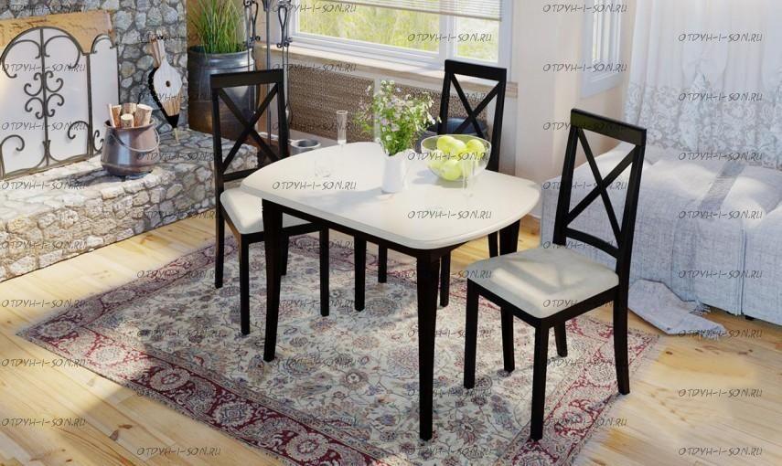 Обеденная группа: стол Альт СМ (Б)-101.01.11(1) + стулья Дарвин
