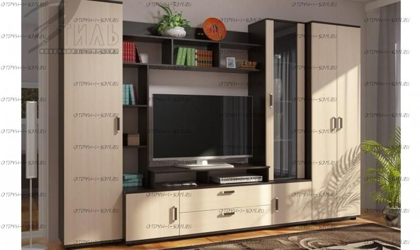 Гостиная Стиль 7 + шкаф (ЛДСП)