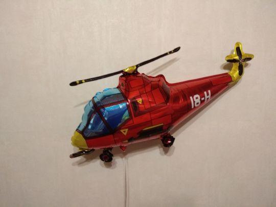 Вертолет (4 цвета) фольгированный шар с гелием