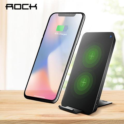 Беспроводная зарядка ROCK W8 - на два устройства