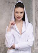 Женское платье-туника с объемным капюшоном