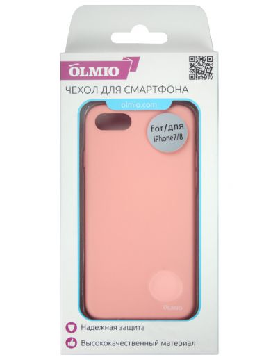 Чехол Velvet для iPhone 7/8 Plus (нежно-розовый) Olmio