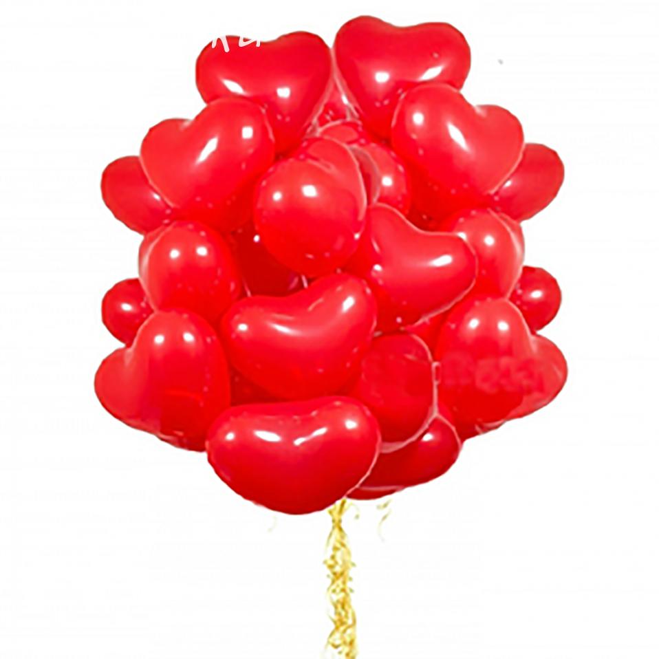 """Сердца Красные 12"""" (32см)"""
