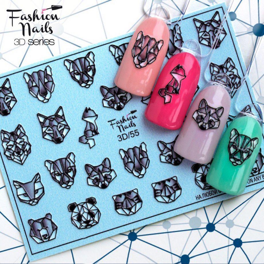 3D слайдер дизайн Fashion Nails #55