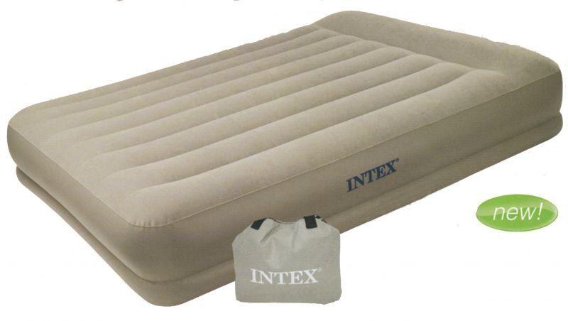 Надувная кровать с подголовником Intex 67746 двуспальная