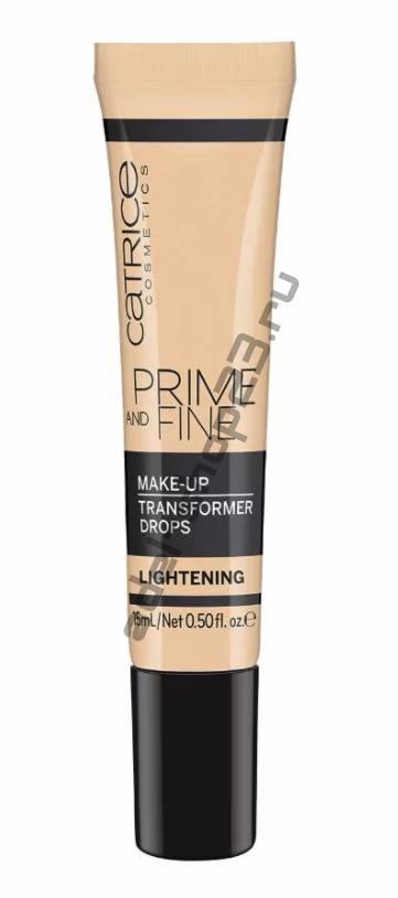 Catrice - Капли для коррекции тональной основы Prime And Fine Make Up Transformer Drops Lightening