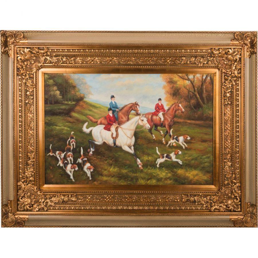 Картина масляная на холсте 90x60 см., багет 134x105 см.