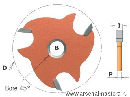 CMT 823.350.11 Фреза пазовая (диск) Z3 F8 с зенк D47,6x5