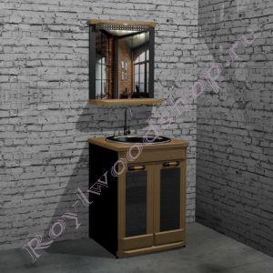 """Тумба с раковиной и зеркалом """"Честер- Лофт"""" . 60 см."""