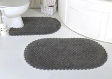 Комплект ковриков для ванной PRIOR 60*100 + 50*70(т.серый) Арт.5100-1