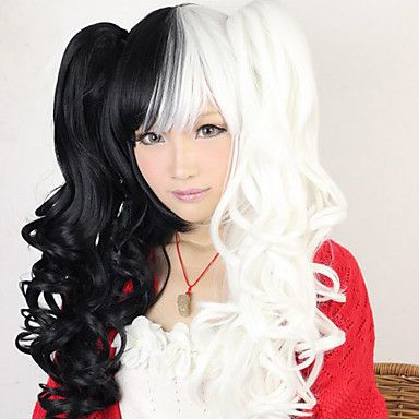 Чёрно-белый парик