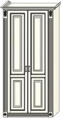 Шкаф двухдверный  Ферсия с двумя пилястрами, для платья и белья (модуль 24)