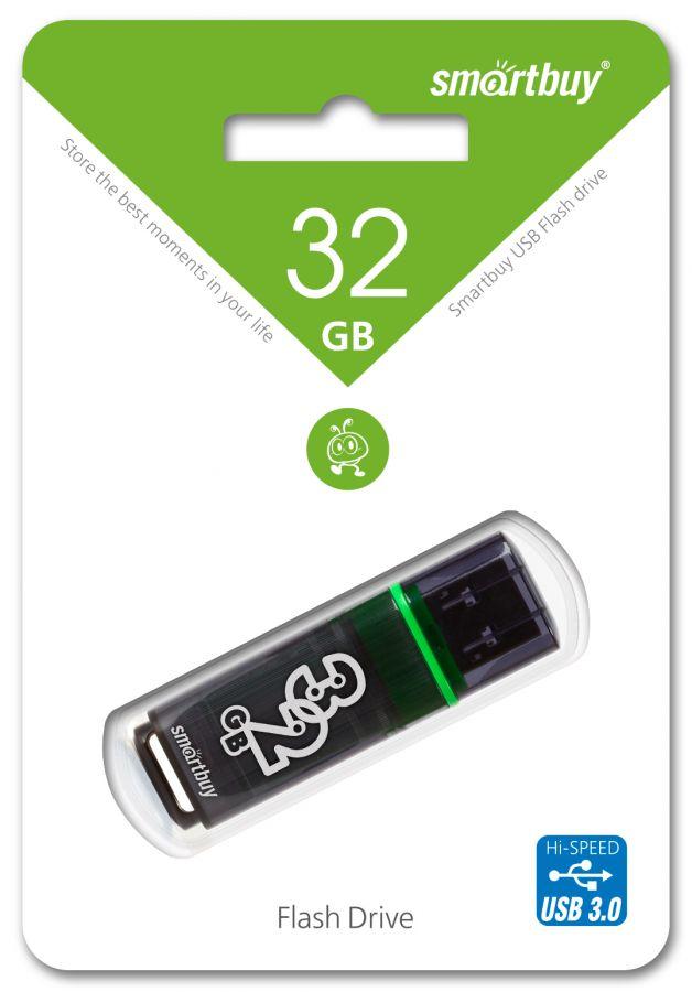 USB накопитель 3.0 Smartbuy 32GB Glossy series Dark Grey