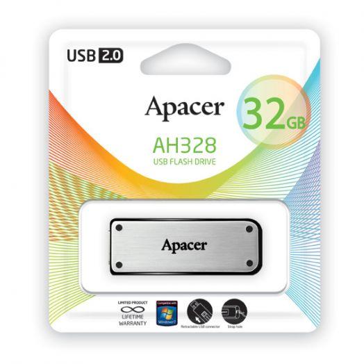 USB накопитель Apacer 32GB AH328S silver