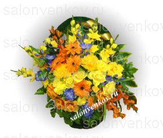 Ритуальная корзина из искусственных цветов N10, РАЗМЕР 60см, 80см,90 см