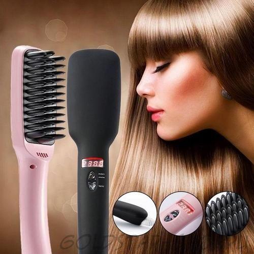 Расческа выпрямитель для волос PTC HEATING 2 В 1
