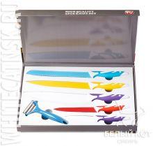 Набор цветных стальных ножей