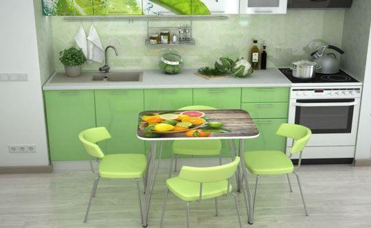 Кухонный стол с фотопечатью Фрукты