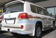 Аэродинамическая накладка на задний бампер (губа) для Toyota Land Cruiser 200