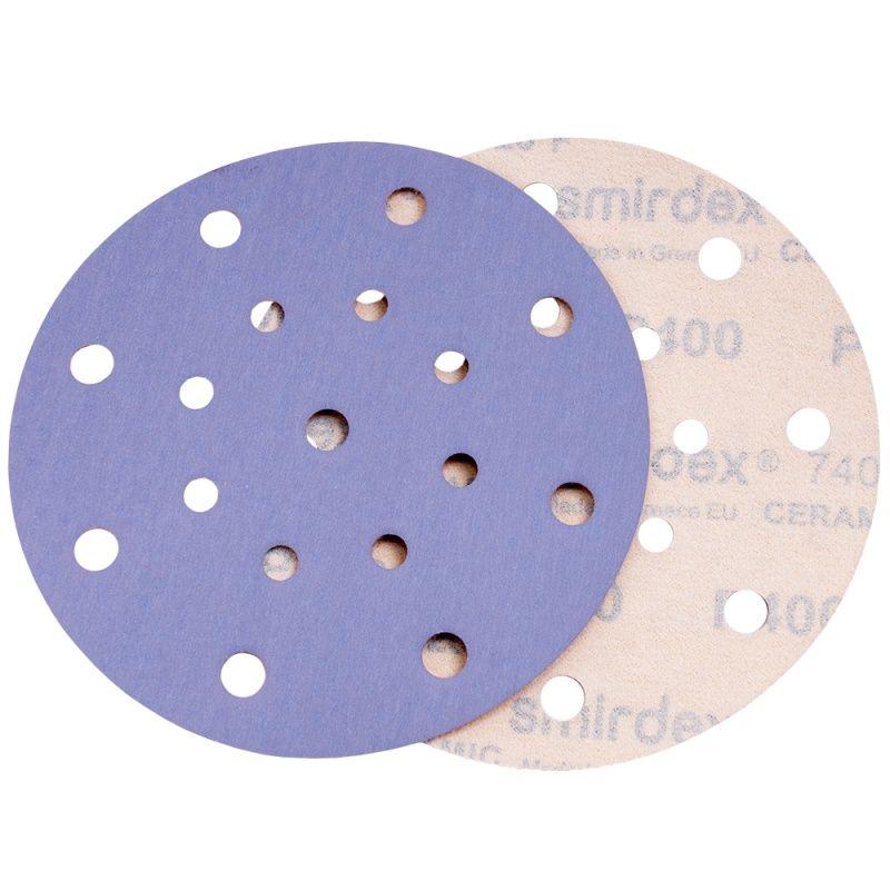 Smirdex P400 Абразивный круг SMIRDEX Ceramic D=150мм., 17 отверстий, (упаковка 100 шт.)