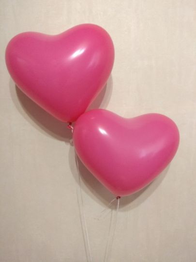 Шар-сердце фуксия латексные шары с гелием