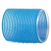 DEWAL Бигуди-липучки, голубые d 55 мм, 6 шт/уп, R-VTR15