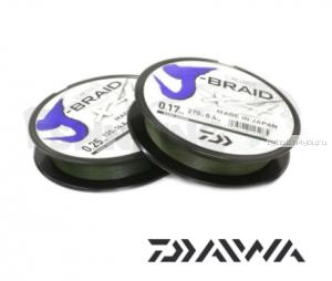 Шнур плетеный Daiwa J-Braid PE X4 135м /цвет: Dark Green