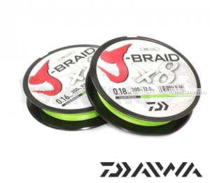 Шнур плетеный Daiwa J-Braid PE X8 150м /цвет: chartreuse
