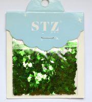 Ромбики STZ для дизайна ногтей «Зеленые»